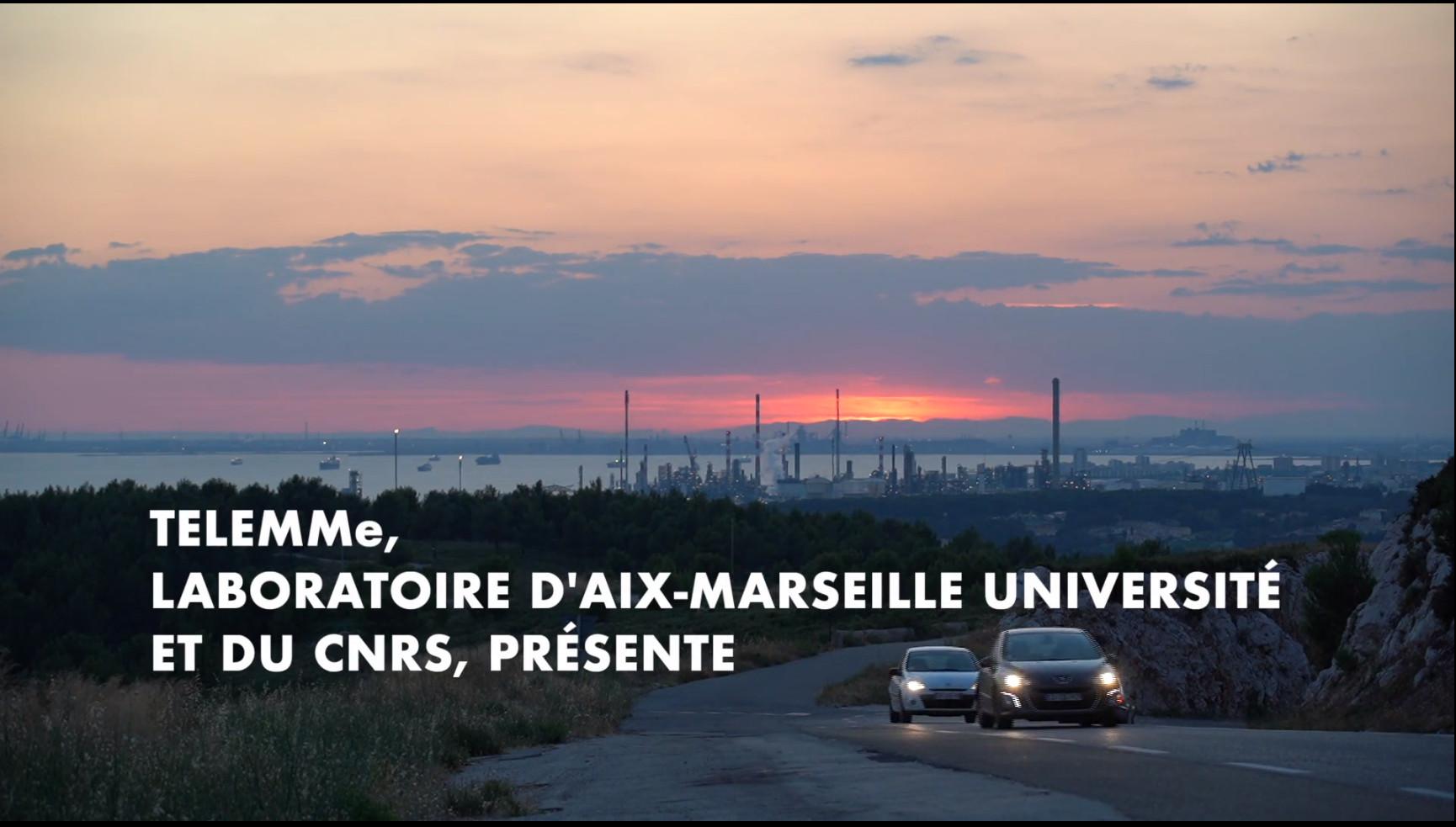 Capture d'écran de la vidéo d'introduction au webdoc Fos / étang de Berre