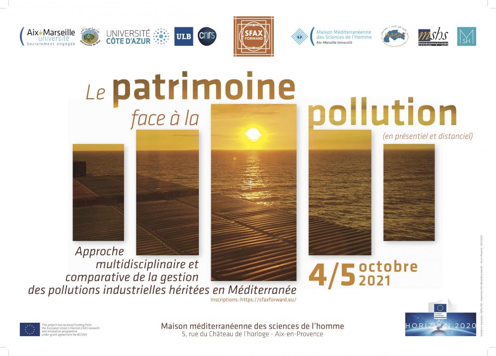 Affiche du Workshop 3 de SfaxForward : Le patrimoine face à la pollution - Heritage faced with pollution