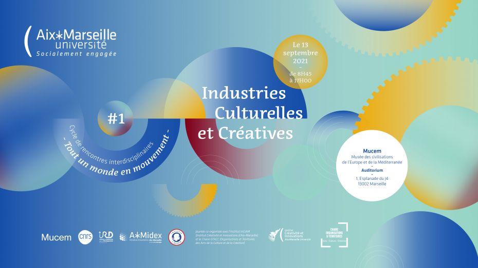 Affiche de « Industries culturelles et créatives – Immersions narratives »